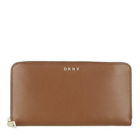 DKNY  Portemonnaie - Bryant New Zip Around - in cognac - für Damen