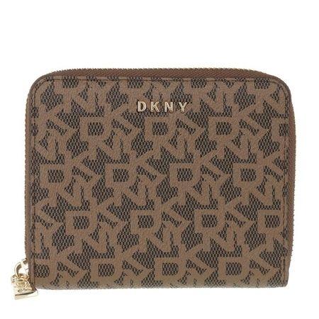 DKNY  Portemonnaie - Bryant Small Zip Around Wallet - in braun - für Damen