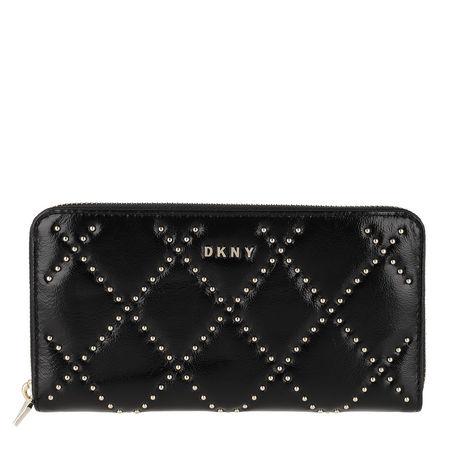DKNY  Portemonnaie  -  Sofia Zip Around Bag Black Gold  - in schwarz  -  Portemonnaie für Damen schwarz
