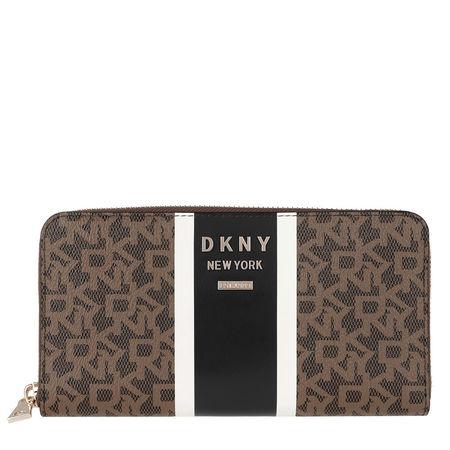 DKNY  Portemonnaie  -  Whitney Zip Around Bag Mocha Logo Black  - in braun  -  Portemonnaie für Damen braun