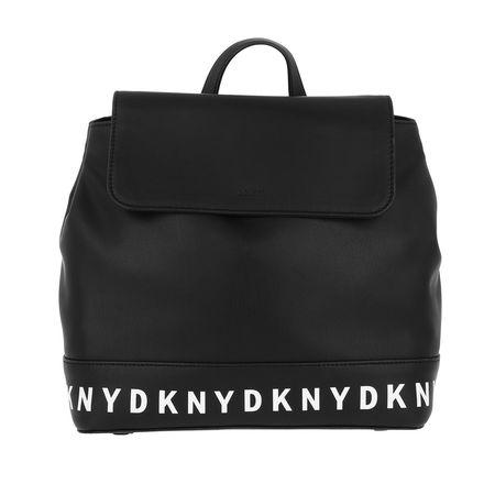 DKNY  Rucksack  -  Juno Flap Backpack Black  - in schwarz  -  Rucksack für Damen schwarz