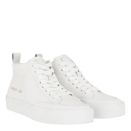 DKNY  Sneakers  -  Rivka Lace Up High Top Sneaker White  - in weiß  -  Sneakers für Damen grau