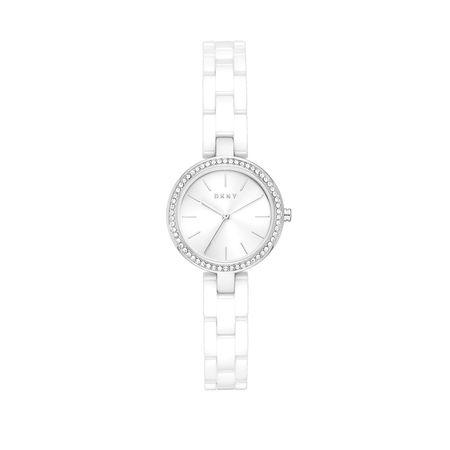 DKNY  Uhr - City Link Watch - in silber - für Damen grau