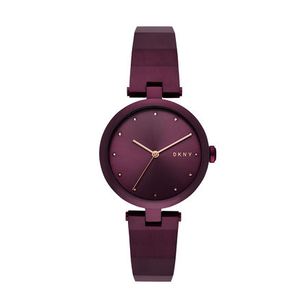 DKNY  Uhr  -  Eastside Watch Ladies Purple  - in lila  -  Uhr für Damen braun
