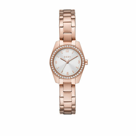 DKNY  Uhr - Nolita Three-Hand Stainless Steel Watch - in rosa - für Damen braun