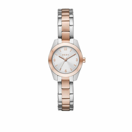 DKNY  Uhr - Nolita Three-Hand Stainless Steel Watch - in silber - für Damen braun