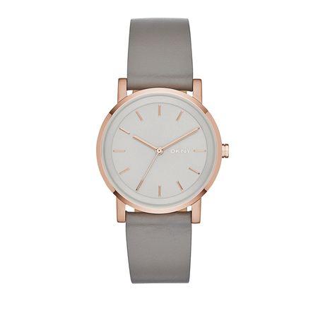 DKNY  Uhr  -  NY2341 Soho Round Watch Grey  - in grau  -  Uhr für Damen grau