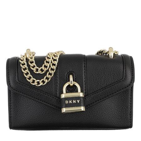 DKNY  Umhängetasche - Ella Mini Flap Shoulder Bag Black Gold - in schwarz - für Damen