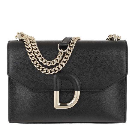 DKNY  Umhängetasche  -  Flap Shoulder Bag Black Gold  - in schwarz  -  Umhängetasche für Damen grau