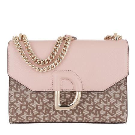 DKNY  Umhängetasche  -  Flap Shoulder Bag Chino Light Cashmere  - in rosa  -  Umhängetasche für Damen braun