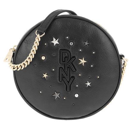 DKNY  Umhängetasche  -  Krescent Canteen Crossbody Bag Black Gold  - in schwarz  -  Umhängetasche für Damen grau