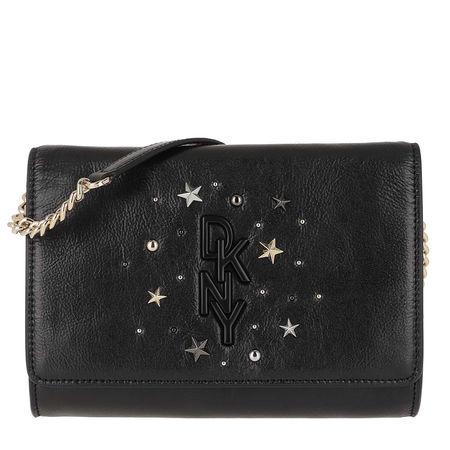 DKNY  Umhängetasche - Krescent Clutch Crossbody Bag Black Gold - in schwarz - für Damen
