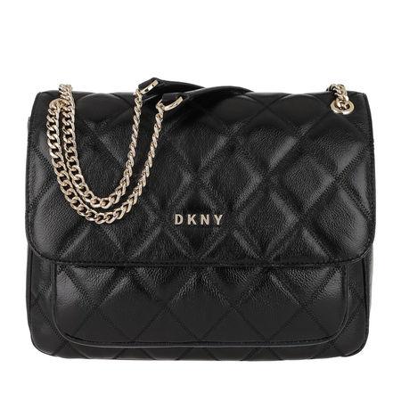 DKNY  Umhängetasche  -  Sofia Chain Flap Bag Black Gold  - in schwarz  -  Umhängetasche für Damen schwarz