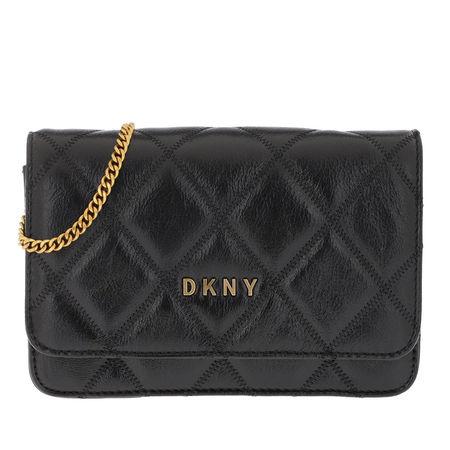 DKNY  Umhängetasche  -  Sofia Flap Crossbody Bag Black Gold  - in schwarz  -  Umhängetasche für Damen grau