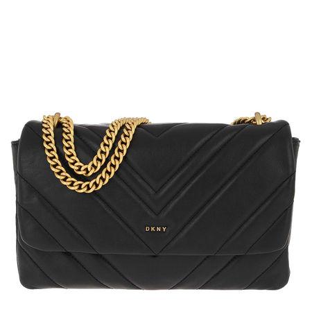 DKNY  Umhängetasche  -  Vivian Crossbody Bag Black Gold  - in schwarz  -  Umhängetasche für Damen schwarz