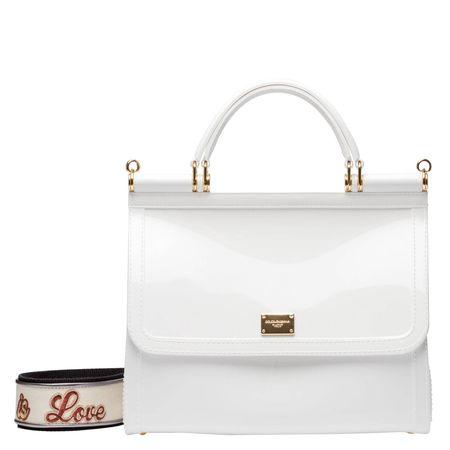 Dolce&Gabbana Dolce & Gabbana® - Handtasche aus Leder in Weiß für Damen, Größe UNI grau