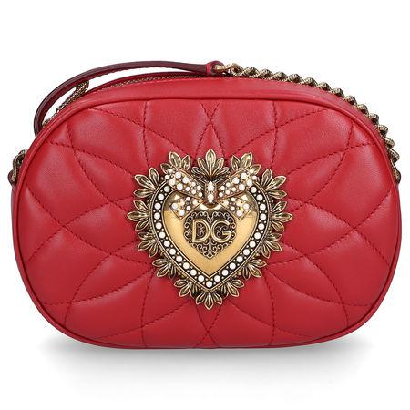 Dolce&Gabbana Dolce & Gabbana Handtasche DEVOTION Nappaleder Logo rot