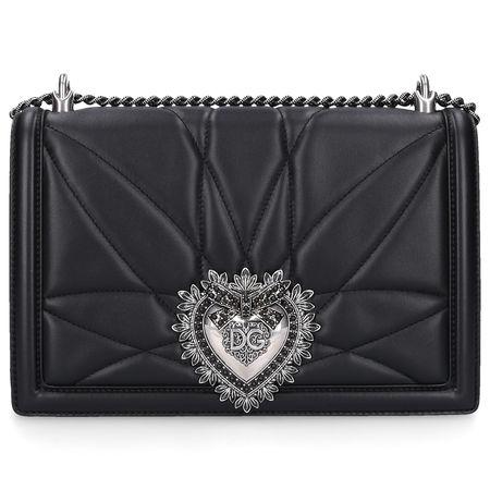 Dolce&Gabbana Dolce & Gabbana Handtasche DEVOTION Nappaleder logo schwarz