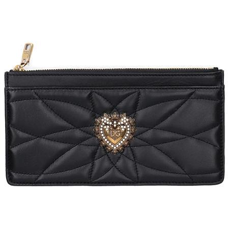 Dolce&Gabbana Dolce & Gabbana Mittleres Kreditkartenetui DEVOTION Nappaleder metallisch schwarz