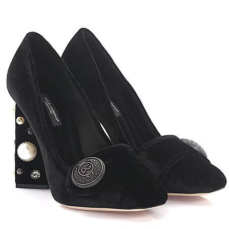 Dolce&Gabbana Dolce & Gabbana Pumps Jackie Samt schwarz schwarz