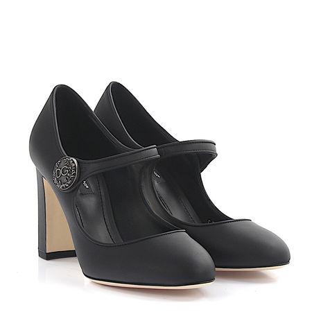 Dolce&Gabbana Dolce & Gabbana Pumps Mary Jane Leder schwarz grau