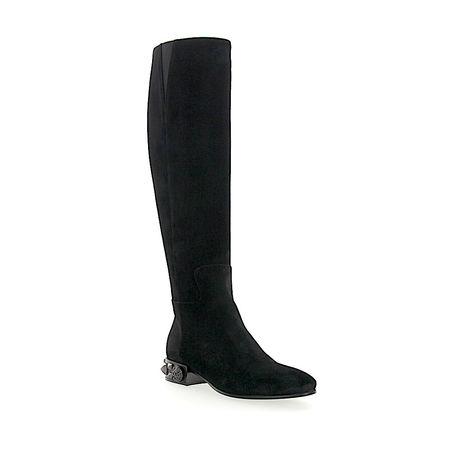 Dolce&Gabbana Dolce & Gabbana Stiefel NAPOLI Veloursleder Logo Metallisch schwarz schwarz