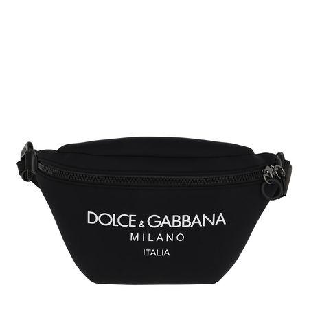 Dolce&Gabbana  Gürteltasche  -  Logo Belt Bag Black  - in schwarz  -  Gürteltasche für Damen schwarz