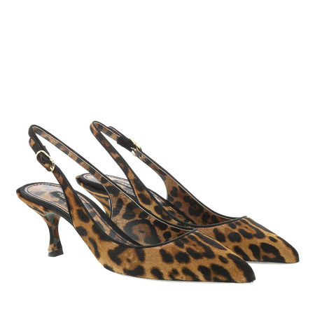 Dolce&Gabbana  Pumps  -  Pony Pump 60 Leo  - in braun  -  Pumps für Damen braun