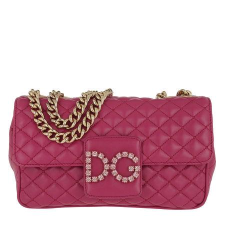 Dolce&Gabbana  Satchel Bag  -  DG Matelassé Shoulder Bag Leather Fucsia  - in pink  -  Satchel Bag für Damen pink