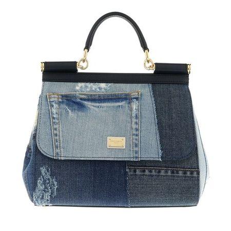 Dolce&Gabbana  Satchel Bag - Sicily Medium Satchel Bag - in blau - für Damen