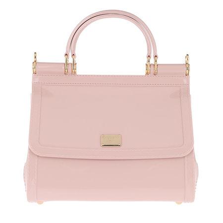 Dolce&Gabbana  Satchel Bag  -  Sicily Shoulder Bag Leather Cipria  - in rosa  -  Satchel Bag für Damen braun