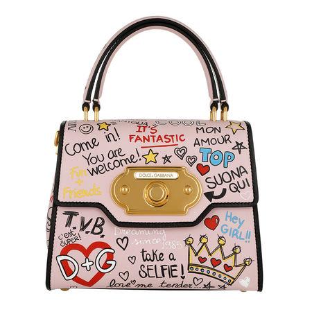 Dolce&Gabbana  Satchel Bag  -  Welcome Handbag Calfskin Rosa  - in rosa  -  Satchel Bag für Damen braun