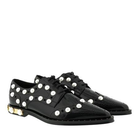 Dolce&Gabbana  Schuhe  -  Derby Pearl Embroidery Leather Black  - in schwarz  -  Schuhe für Damen grau
