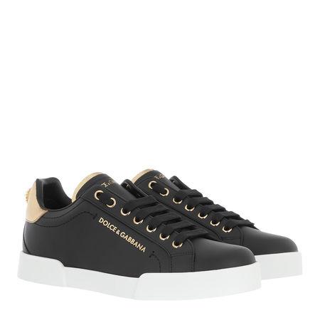 Dolce&Gabbana  Sneakers - Portofino Pearl Sneakers Leather - in black - für Damen grau
