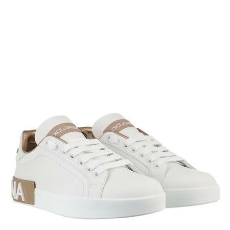 Dolce&Gabbana  Sneakers - Portofino Sneakers Nappa - in white - für Damen