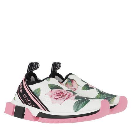Dolce&Gabbana  Sneakers  -  Rose Print Running Sneakers Leather Rose  - in bunt  -  Sneakers für Damen grau