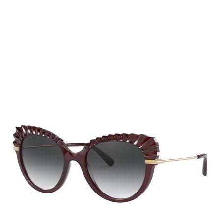 Dolce&Gabbana  Sonnenbrille  -  Women Sunglasses Eternal 0DG6135 Transparent Dark Red  - in rot  -  Sonnenbrille für Damen grau