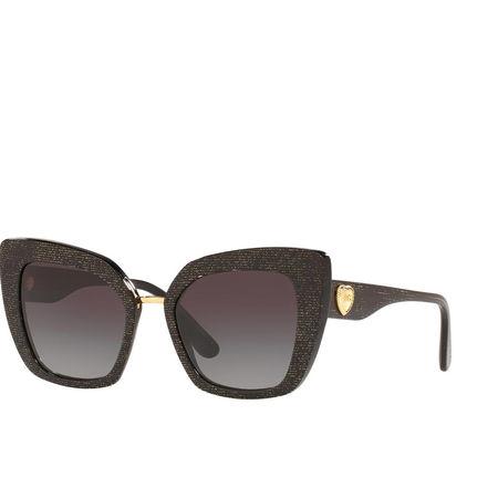 Dolce&Gabbana  Sonnenbrille  -  Women Sunglasses Origin 0DG4359 Glitter Gold Striped Black  - in schwarz  -  Sonnenbrille für Damen grau