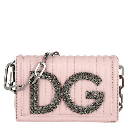 Dolce&Gabbana  Tasche  -  DG Girls Crossbody Bag Leather Pink  - in rosa  -  Tasche für Damen braun