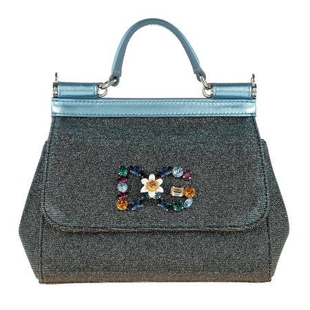 Dolce&Gabbana  Tasche  -  Sicily Shoulder Metallic Leather Gold  - in bunt  -  Tasche für Damen grau