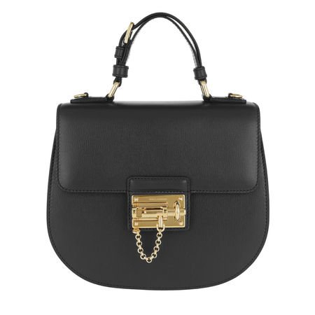 Dolce&Gabbana  Tasche  -  Top Handle Bag Tote Leather Black  - in schwarz  -  Tasche für Damen grau