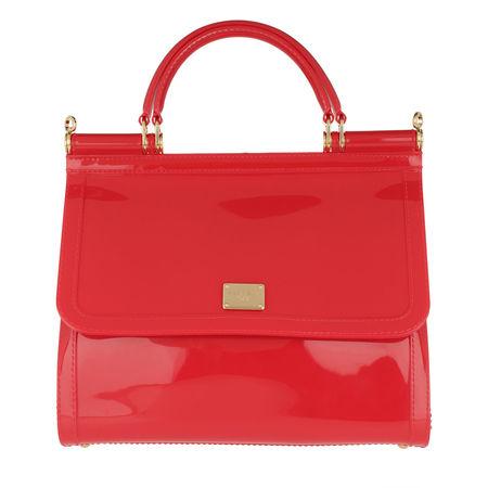Dolce&Gabbana  Tote  -  Sicily Tote Bag PVC Rosso  - in rot  -  Tote für Damen rot
