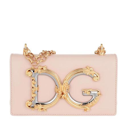 Dolce&Gabbana  Umhängetasche  -  Crossbody Leather Cipria  - in rosa  -  Umhängetasche für Damen braun