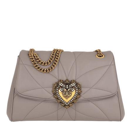 Dolce&Gabbana  Umhängetasche  -  D&G Devotion Shoulder New Nappa Leather Sand  - in grau  -  Umhängetasche für Damen braun