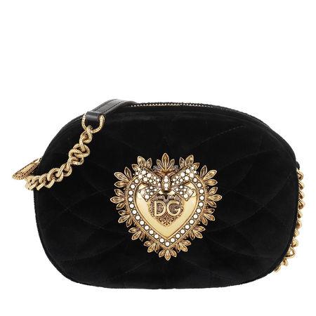 Dolce&Gabbana  Umhängetasche  -  Devotion Camera Bag Black  - in schwarz  -  Umhängetasche für Damen schwarz