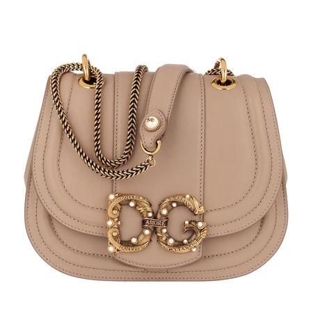 Dolce&Gabbana  Umhängetasche  -  DG Amore Bag Calfskin Leather Deserto  - in beige  -  Umhängetasche für Damen braun