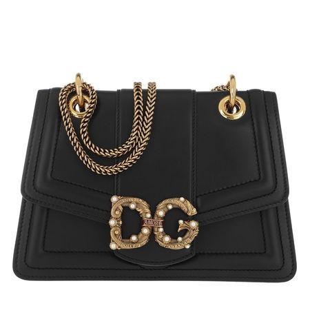 Dolce&Gabbana  Umhängetasche  -  DG Amore Bag Leather Black  - in schwarz  -  Umhängetasche für Damen schwarz