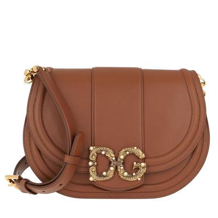 Dolce&Gabbana  Umhängetasche  -  DG Amore Messenger Bag Deserto  - in braun  -  Umhängetasche für Damen braun