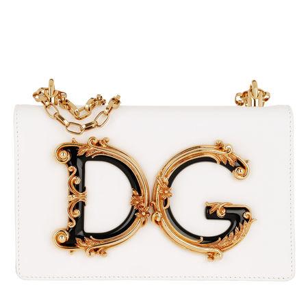 Dolce&Gabbana  Umhängetasche  -  DG Girls Crossbody Bag Bianco  - in weiß  -  Umhängetasche für Damen grau