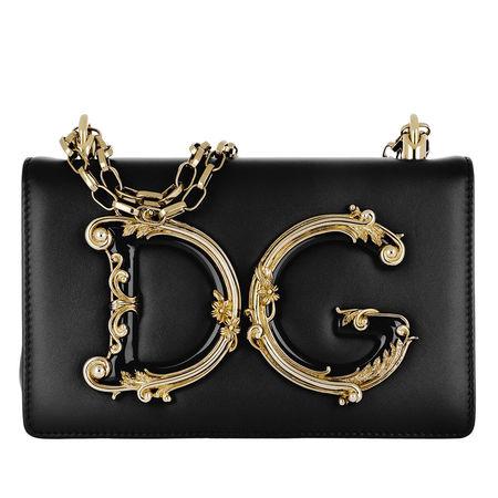Dolce&Gabbana  Umhängetasche  -  DG Girls Crossbody Bag Nero  - in schwarz  -  Umhängetasche für Damen schwarz